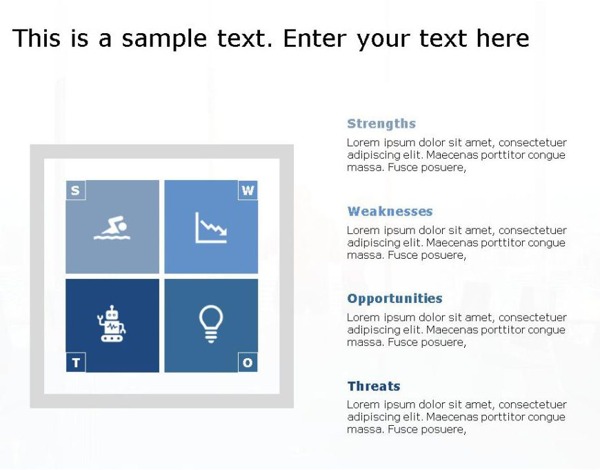 SWOT PowerPoint Template for business use -32h