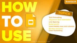 How to use Google Slides | Google Slides Tutorial