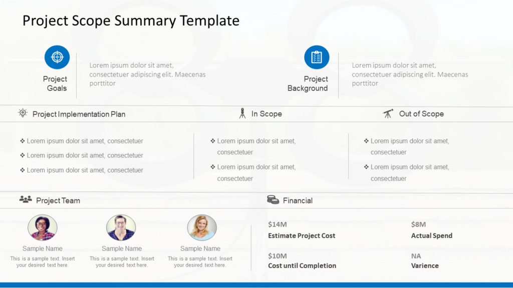 Project Scope Summary Template