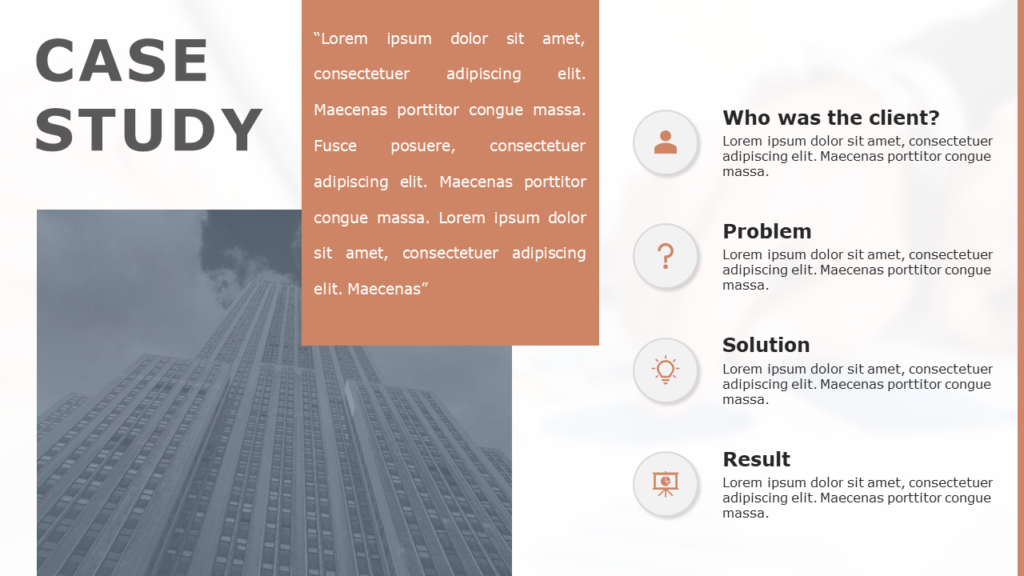 Free Case Study PowerPoint Template