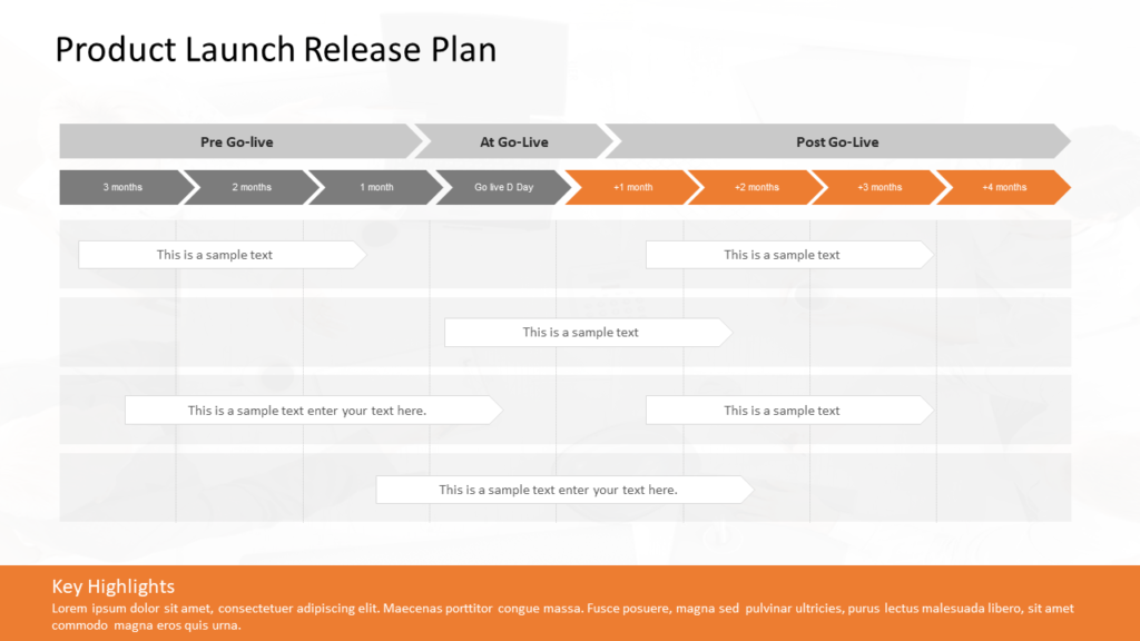 Product Launch Release Plan