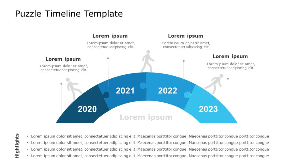 Puzzle Timeline Template
