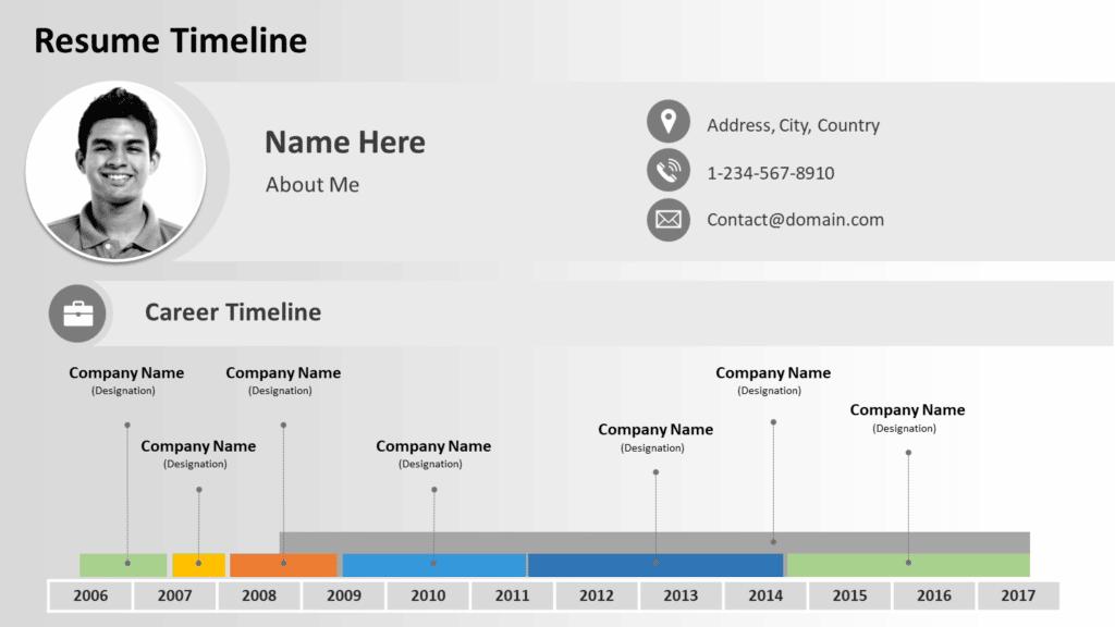 Resume Timeline Template