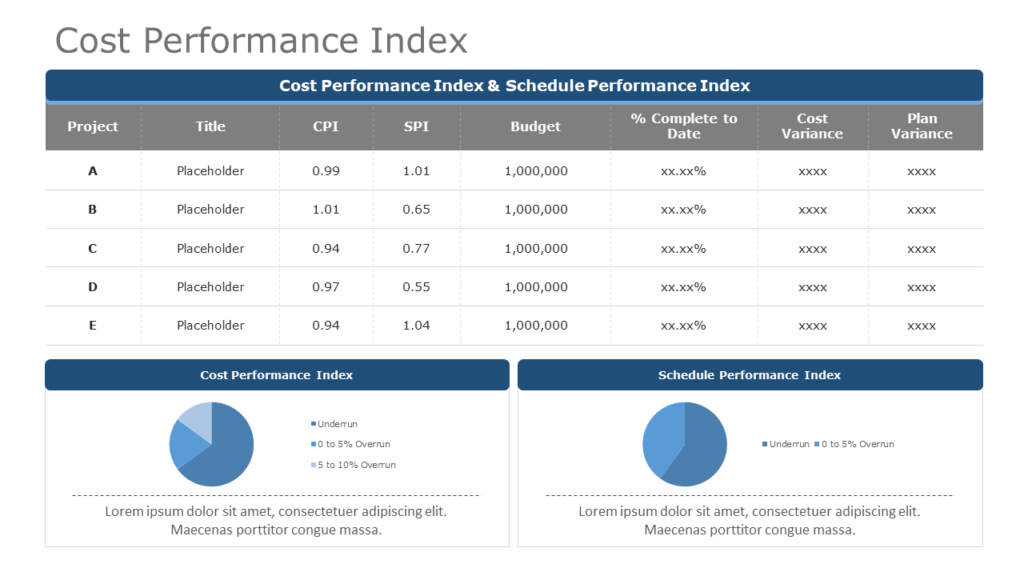 Cost Performance Index