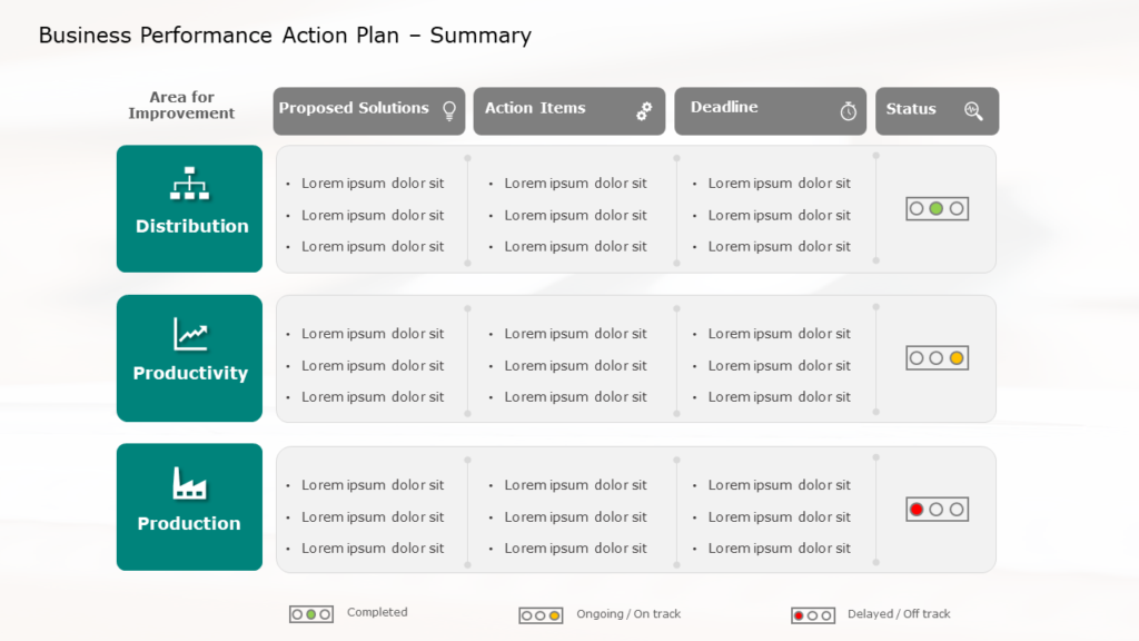 Business Performance Action Plan Template