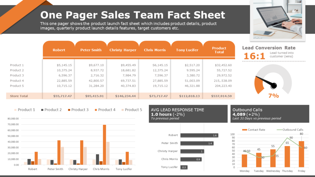 One Page Fact Sheet Template