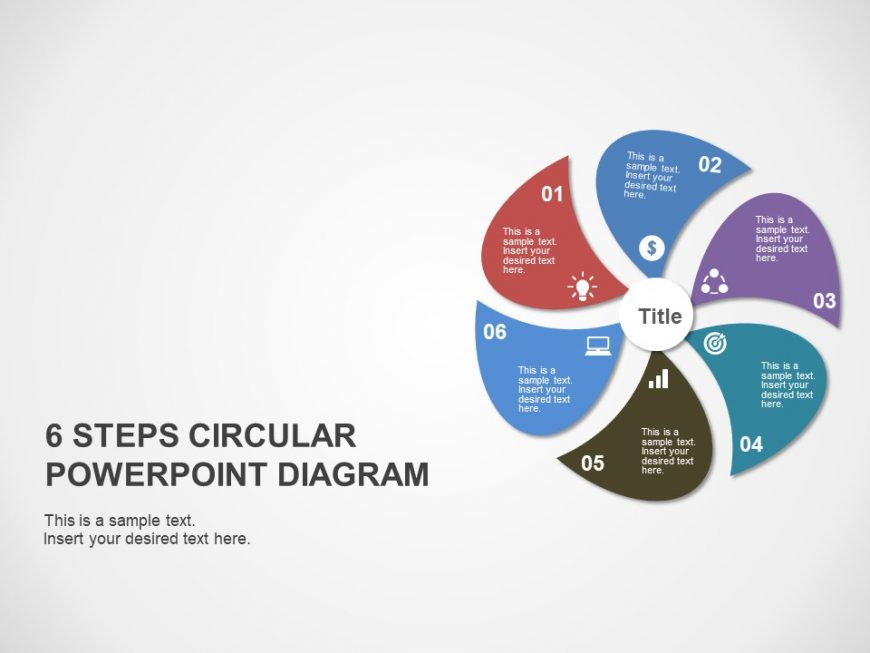 6 Step Business Strategy Powerpoint Template