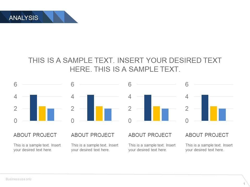 Business Analysis Bar Chart Powerpoint Template - SlideUpLift