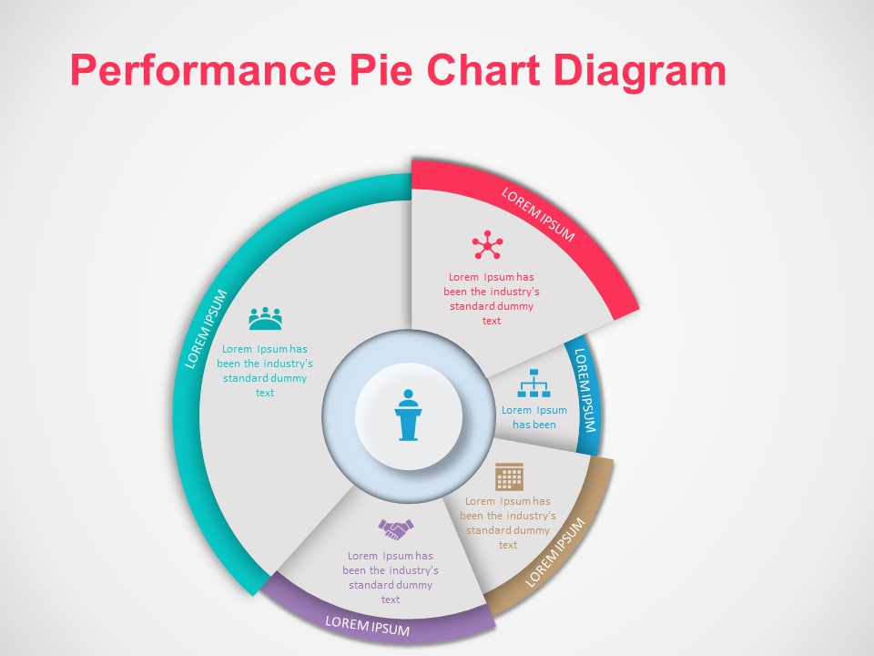 Performance Pie Chart diagram | PowerPoint Graphs and ...