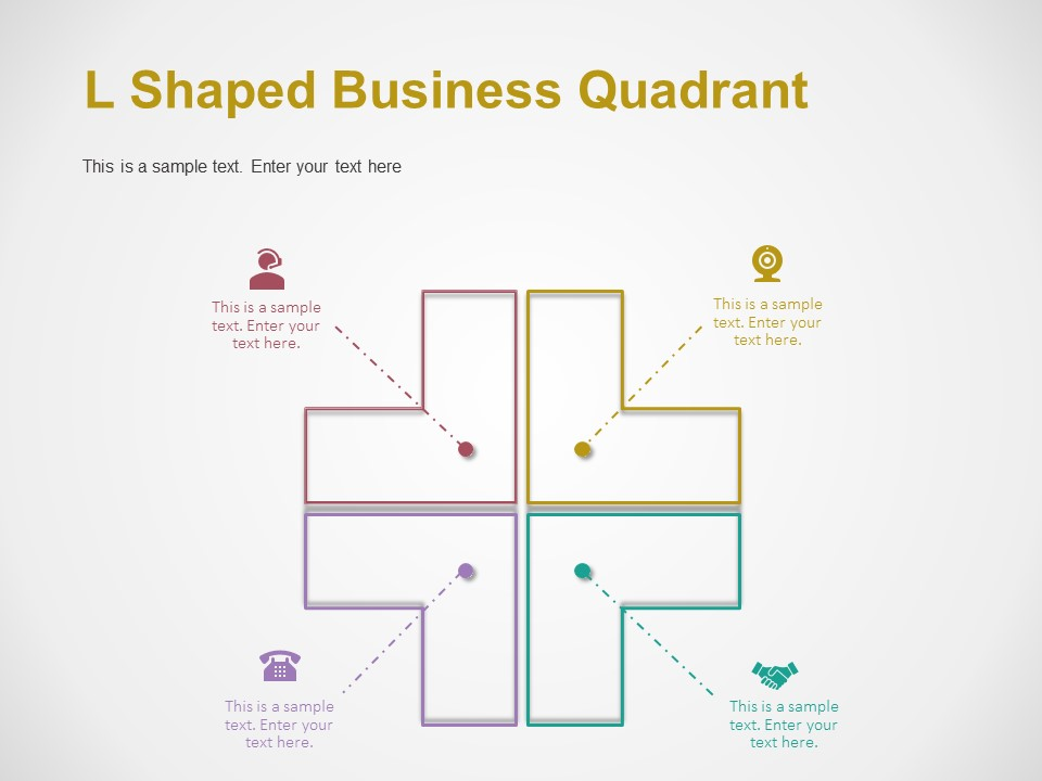 L shaped business quadrant powerpoint template slideuplift l shaped business quadrant powerpoint template toneelgroepblik Image collections