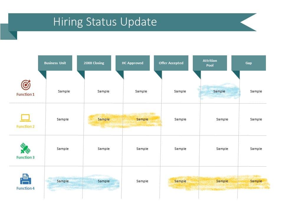 Hiring Status Update Powerpoint Template Slideuplift