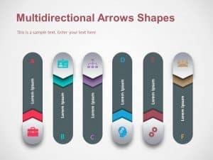 Multidirectional Arrows Shapes