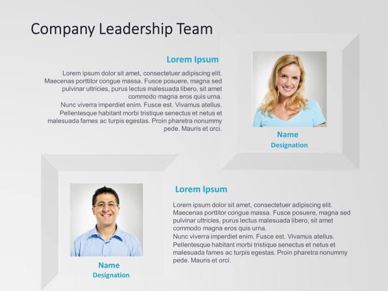 Company Leadership Team Powerpoint Template