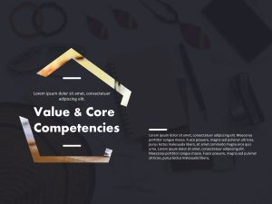 Company Values And Core Competencies Deck