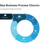 5 Step Business Process Chevron Diagram Template