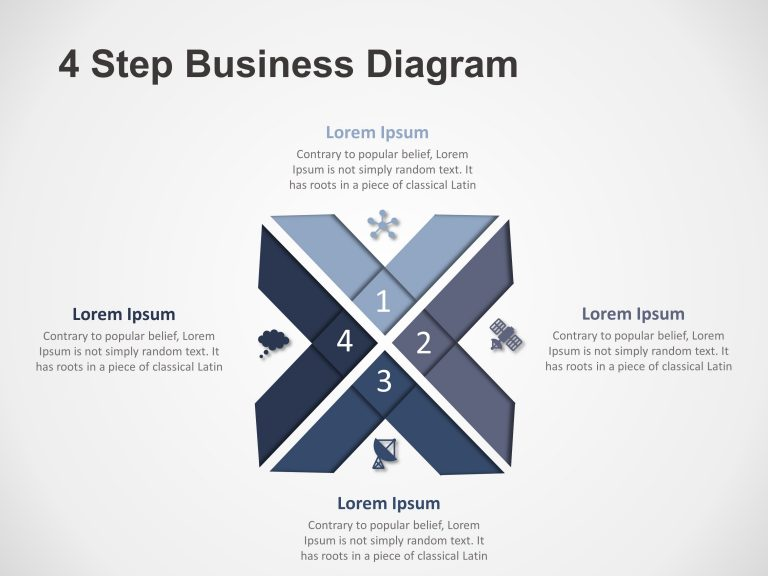 4 Steps Business Diagram