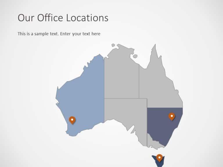 Australia Map PowerPoint Template 6