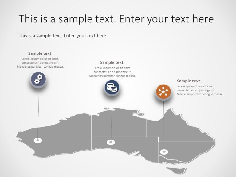 Australia Map PowerPoint Template 7