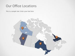 Canada Map PowerPoint Template 4