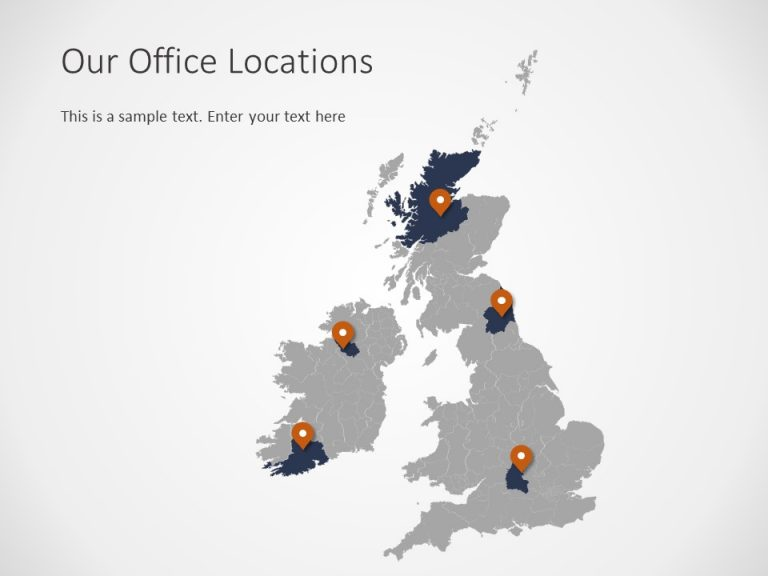 United Kingdom Map PowerPoint Template 4