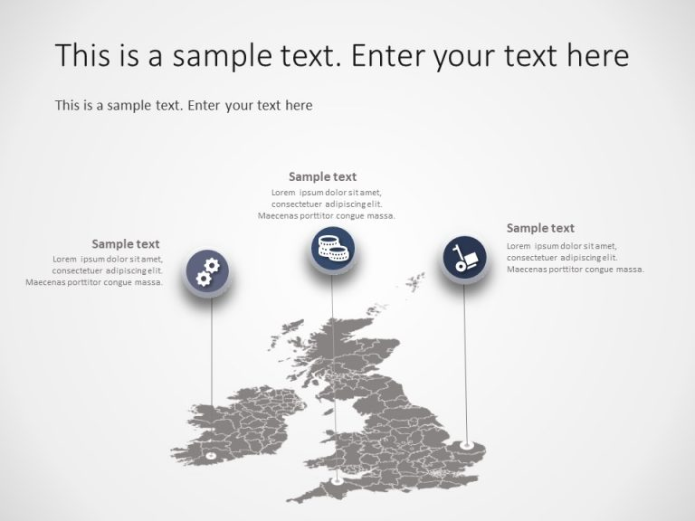 United Kingdom Map PowerPoint Template 5