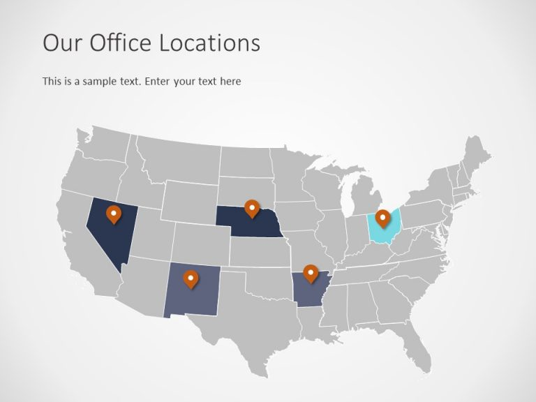 USA Map PowerPoint Template 4