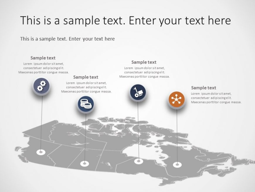 Canada Map PowerPoint Template 5