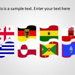 Country flags powerpoint template