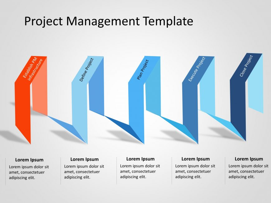 Project Management Lifecycle Powerpoint Template 1