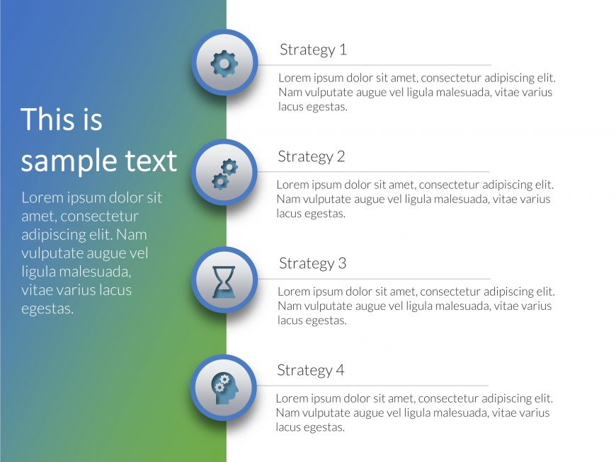 4 Steps Core Business Strategy PowerPoint 2