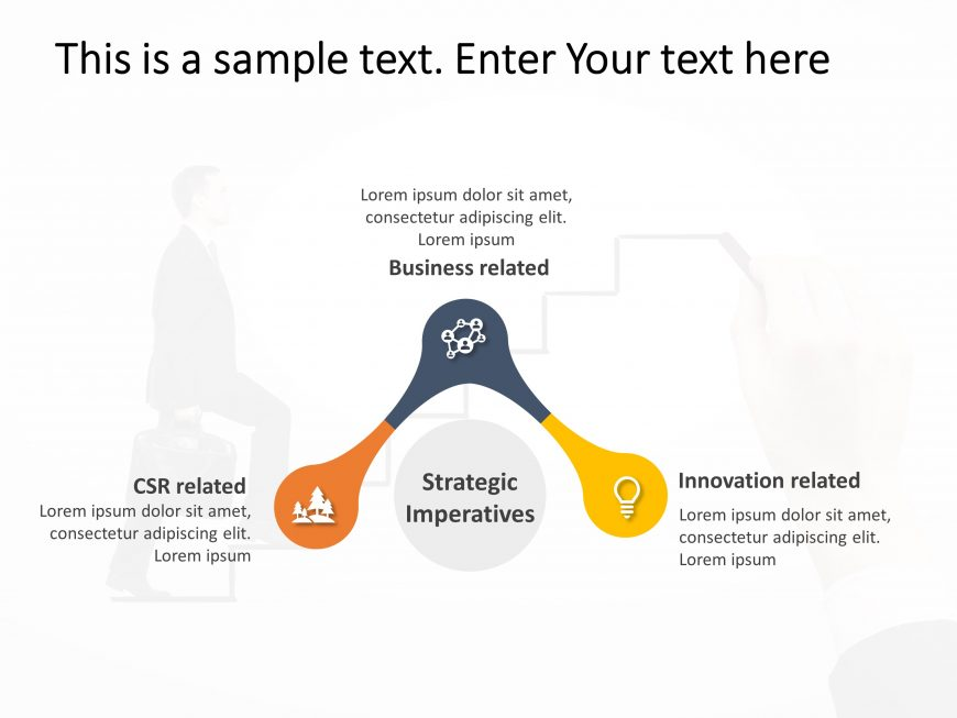 3 Steps Strategy PowerPoint Template 1