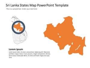 Sri Lanka Map PowerPoint Template 5