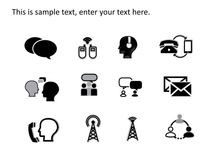 Communication PowerPoint Icons