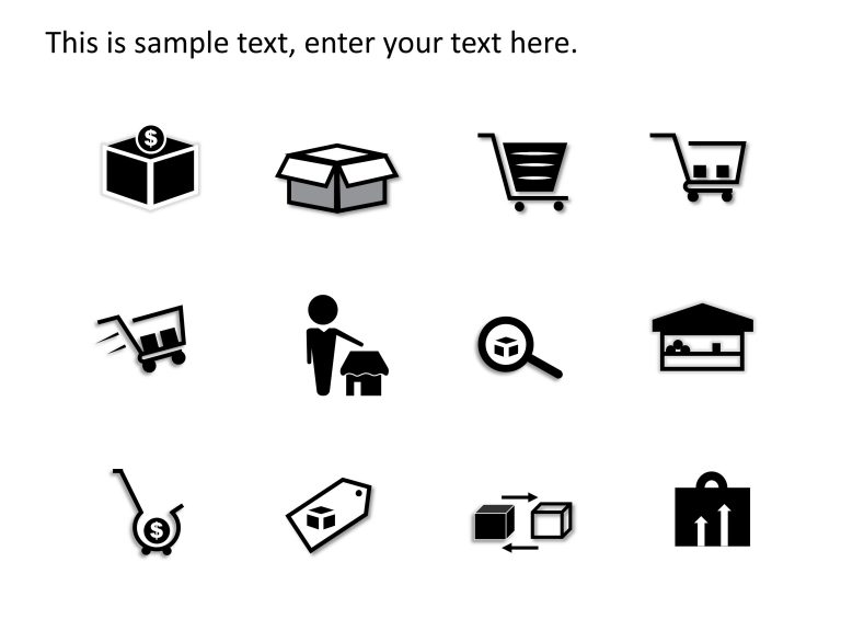 Product and Market PowerPoint Icons