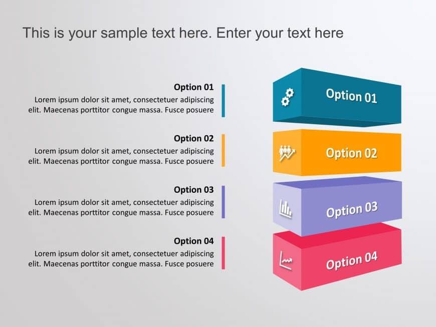 Options 3D 4 Steps Boxes
