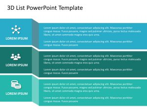 Free 3D List PowerPoint Template