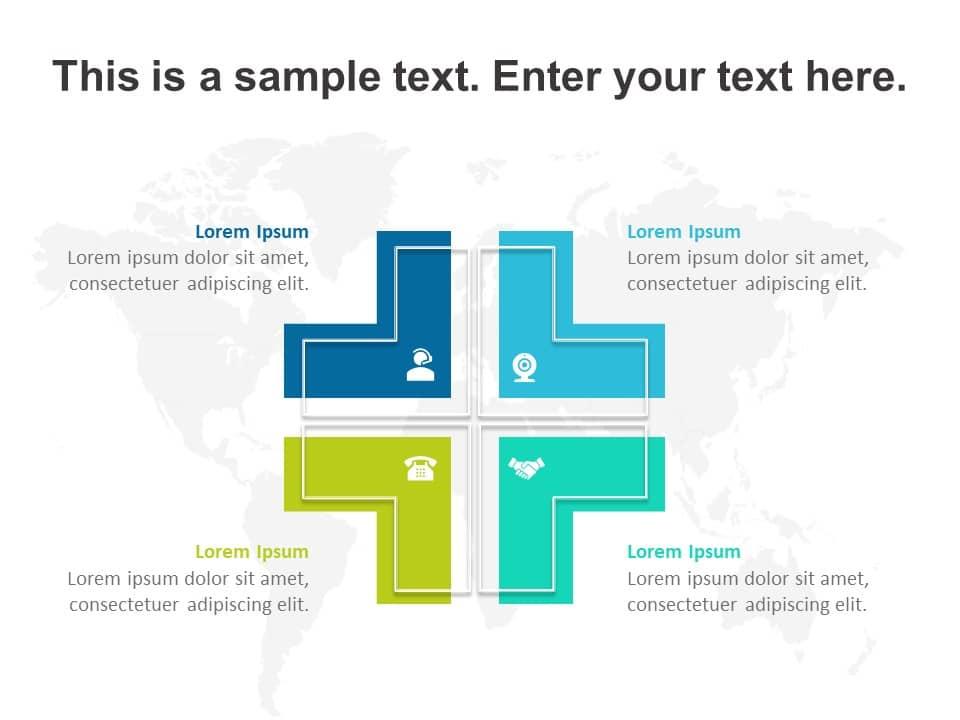 L Shaped Business Quadrant Powerpoint Template Magic Quadrant Templates Slideuplift