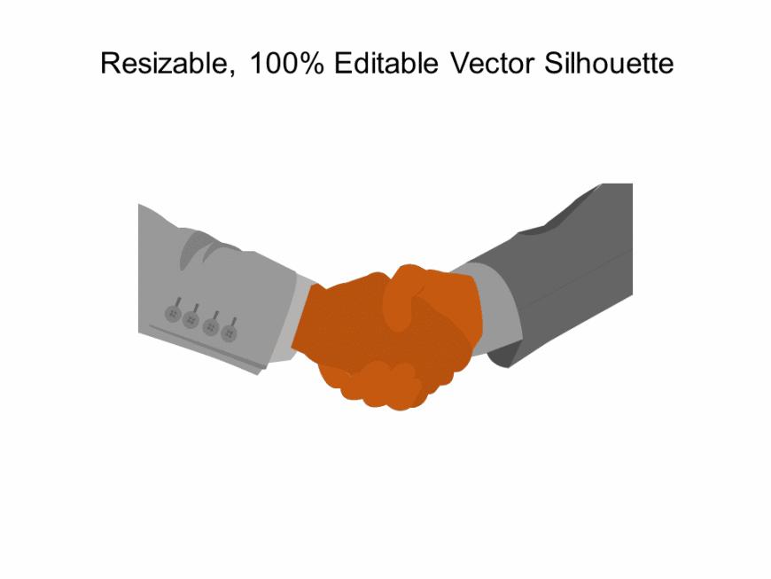 Partnership Shakehands Silhouette