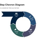 4 Step Circular Chevron Diagram Template