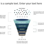 5 Steps Sales Funnel Diagram PowerPoint Template