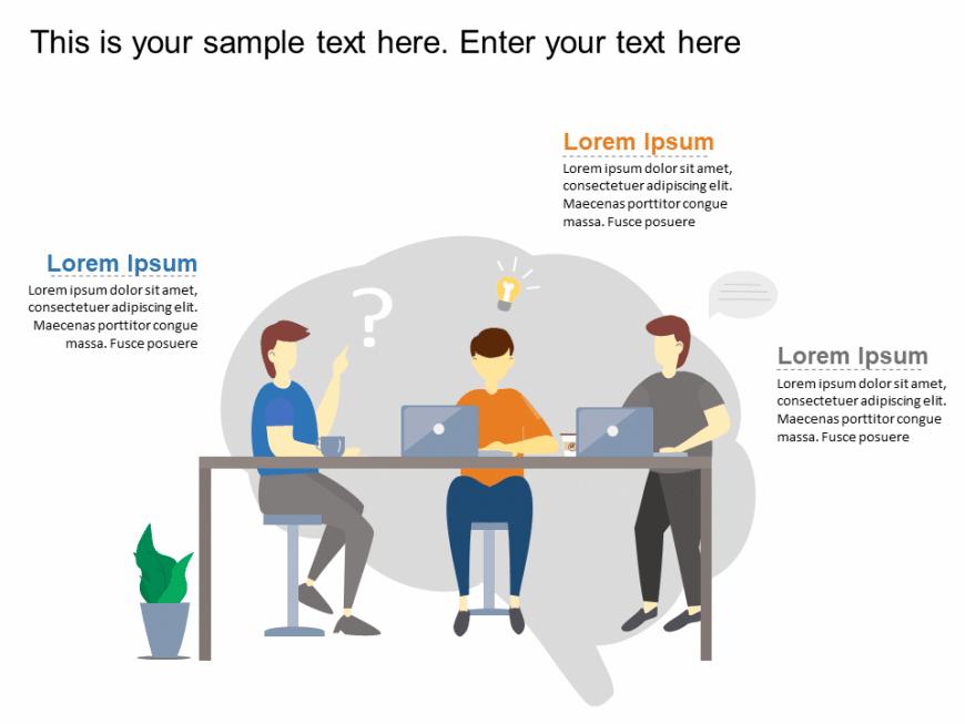 Teamwork Brainstorming Animated Template