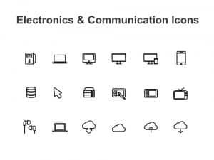 Electronics & Communication Marketing Powerpoint Icons