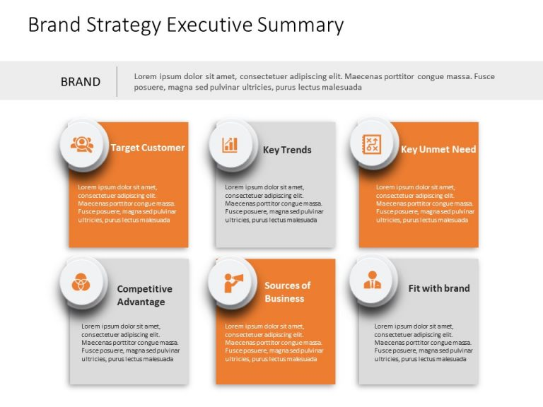 Brand Strategy Executive Summary PowerPoint Template