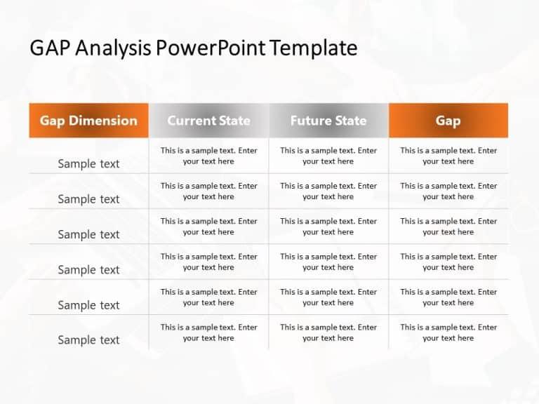 Gap Analysis PowerPoint Template 1