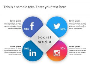 Social Media Market Share PowerPoint Template 7