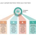 4 Steps Business Goals PowerPoint
