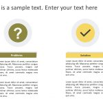 Problem & Solution PowerPoint Template 6