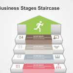 4 Business Stages Diagram For Powerpoint