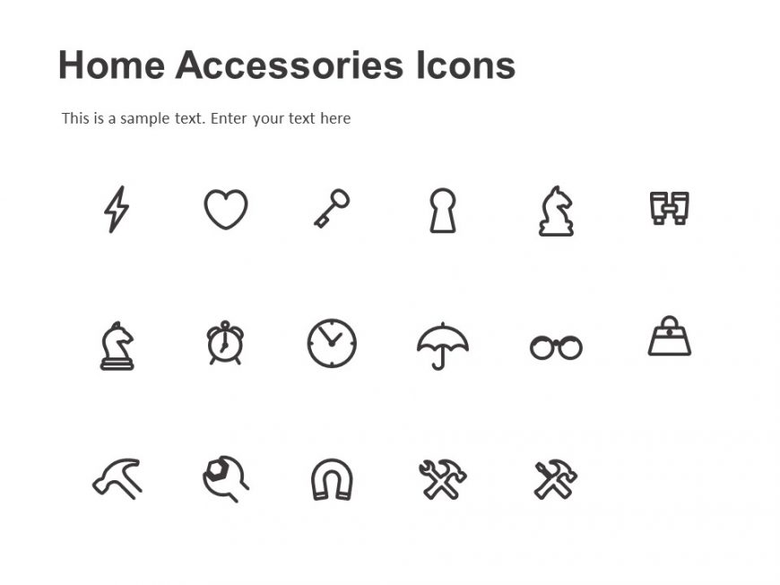 Home Accessories Icons