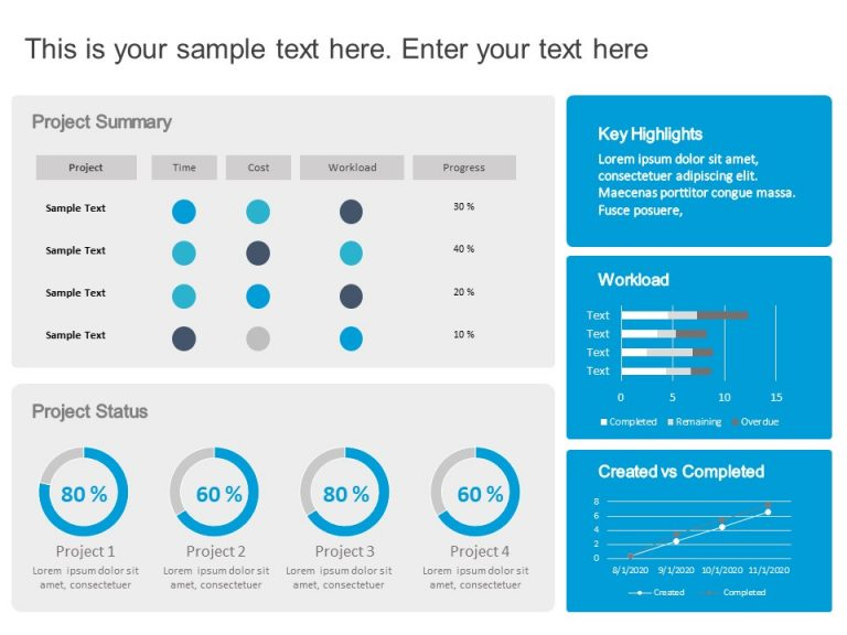 Project Dashboard PowerPoint 5
